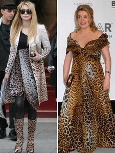 Courtney Love et Catherine Deneuve : total look léopard
