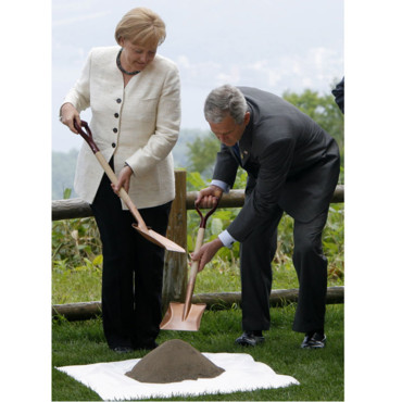Angela Merkel et George W. Bush