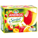 Les sorbets fraise abricot pomme Andros