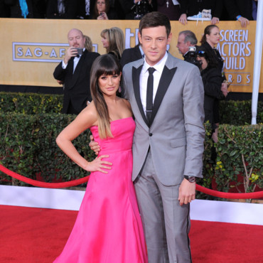 Lea Michele et Cory Monteith lors des Screen Acotrs Guild Awards 2013 le 27 janvier 2013 à Los Angeles