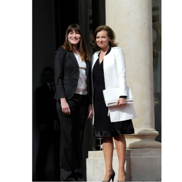 Carla Bruni Sarkozy et Valrie Trierweiler 15 mai