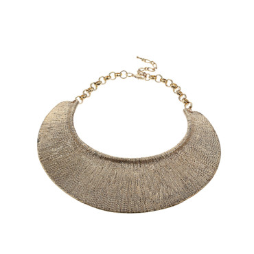 Le collier doré Miss Selfridge 25 euros
