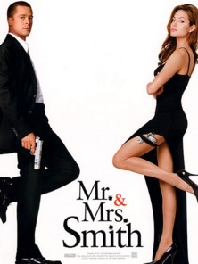 people : Affiche Mr & Mrs Smith avec Angelina Jolie et Brad Pitt