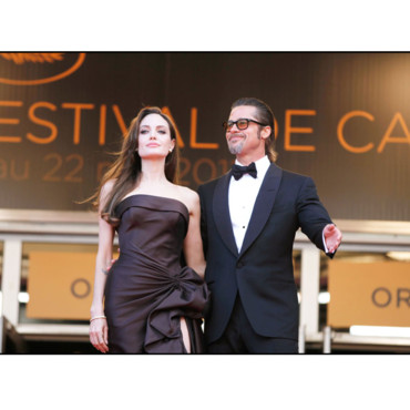 Brad Pitt Angelina Jolie Cannes 2011 montée des marches Tree of Life