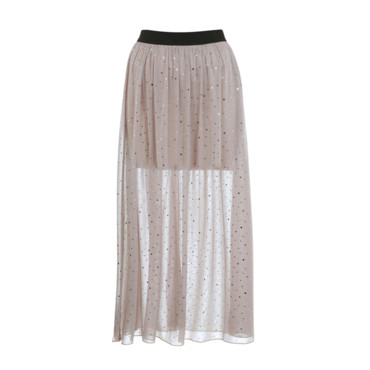 Jupe longue recouverte de sequins Miss Selfridge, 44 euros