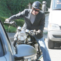 Photo : Keanu Reeves sur sa moto