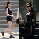 montage Anne Hathaway avant aprs prparation Catwoman