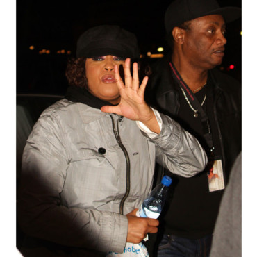 Whitney Houston après un concert à Stockholm 2010