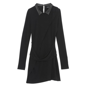 Robe en jersey et col en cuir The Kooples 195e