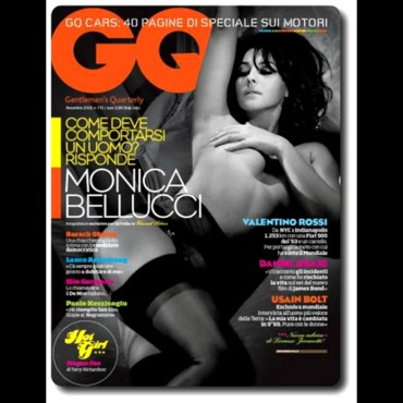Monica Bellucci en couverture de GQ