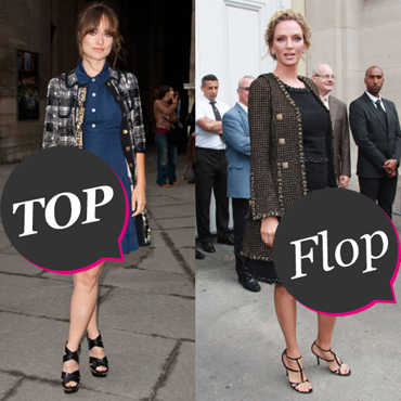 Top Flop manteau tweed Olivia Wilde Uma Thurman
