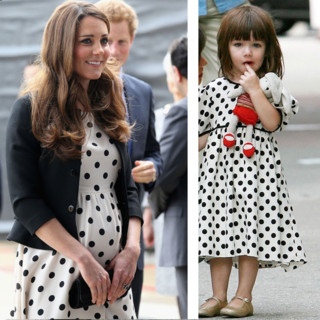 Kate Middleton vs Suri Cruise : la robe à pois