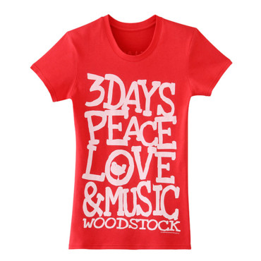 T-shirt Woodstock rouge