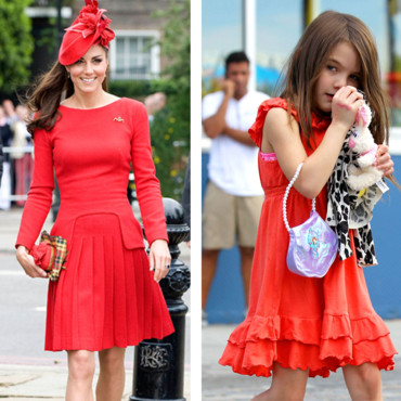 Kate Middleton vs Suri Cruise : la robe rouge