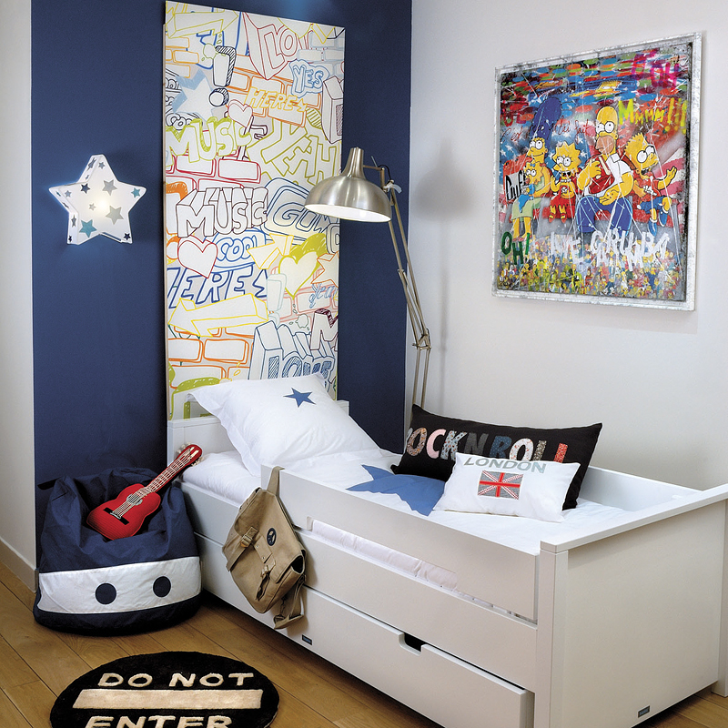 Lit ado gara on for Chambre enfant delimite fille gara c2 a7on
