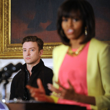 Justin Timberlake et Michelle Obama, le 9 avril 2013