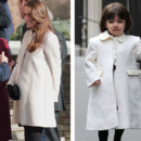 Kate Middleton vs Suri Cruise : le manteau blanc