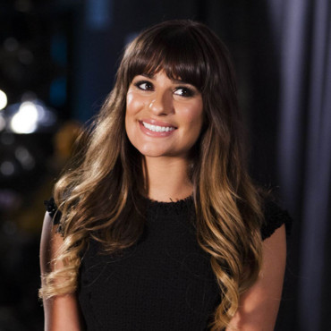 Lea Michele et son tie and dye dans Glee