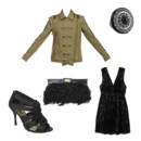 lOOK VESTE MILITAIRE PARTY GIRL