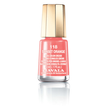 Vernis Mavala, teinte 118 Sunset Orange 5,40 euros