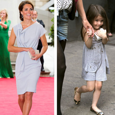 Kate Middleton vs Suri Cruise : la robe grise
