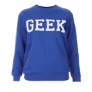Sweat-shirt Geek Topshop, 38 euros