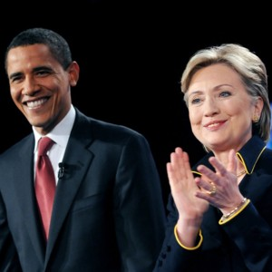 people : Barack Obama et Hilary Clinton