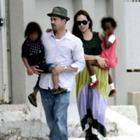 Photo : le couple Angelina Jolie / Brad Pitt en famille