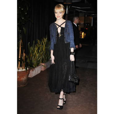 Emma Stone en total look Chanel