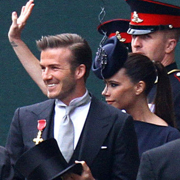Victoria Beckham et David Beckham au mariage de Kate et William