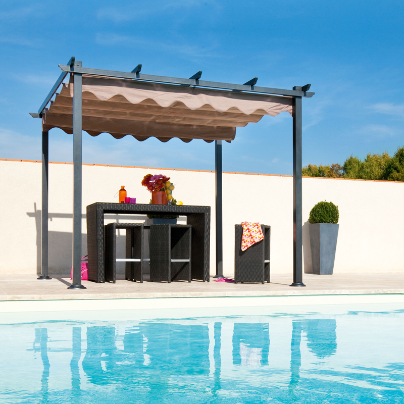 d co t 15 pergolas et tonnelles pour se faire une place au soleil pergola autoport e la. Black Bedroom Furniture Sets. Home Design Ideas