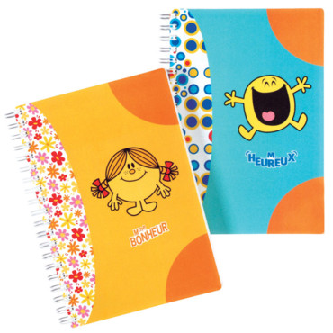 Fournitures scolaires filles : cahier Monsieur Madame