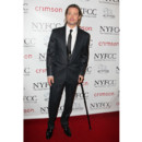 Brad Pitt et sa canne lors des Critics Circle Awards en 2012