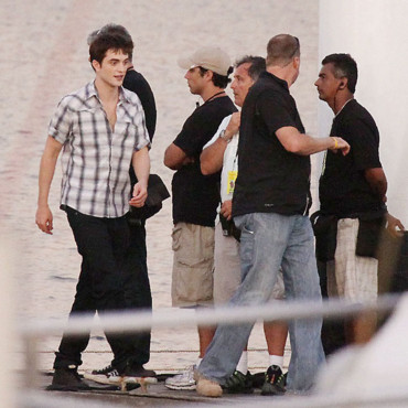 Robert Pattinson sur le tournage de Twilight 4