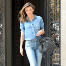 Look du jour : Miranda Kerr et son total look denim à New York