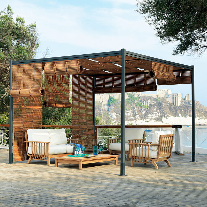 d co t 15 pergolas et tonnelles pour se faire une place au soleil pergola koin unopiu. Black Bedroom Furniture Sets. Home Design Ideas
