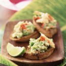 Toasts avocat crabe