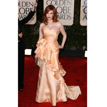 Christina Hendricks aux Golden Globes