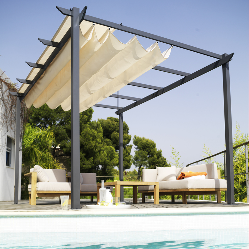 pergola aluminium castorama meilleures images d. Black Bedroom Furniture Sets. Home Design Ideas