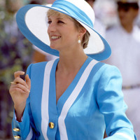 Photo : la princesse Diana en bleu