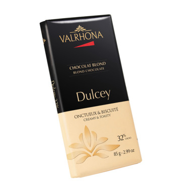 Tablette de chocolat blonc Valrhona