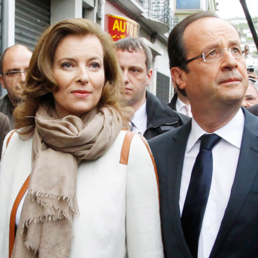 Valrie Trierweiler et Franois Hollande  Tulle le 6 mai 2012