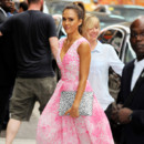 "Jessica Alba rend visite à ""Good Morning America"" le 12 août 2014 à New York"