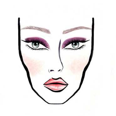 Make up pop Dior. Dessin réalisé par Yadim make up designer international Dior