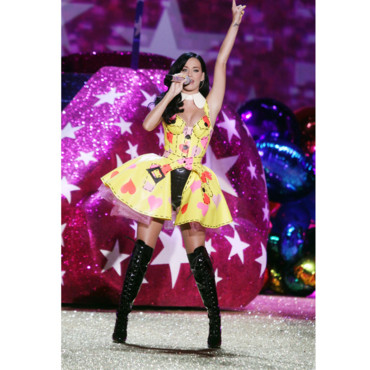Katy Perry pendant le show Victoria's Secret