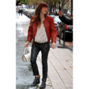 Jessica Biel en total look rock Isabel Marant