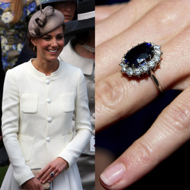 Kate Middleton et sa bague de princesse