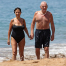 Sir Anthony Hopkins et sa femme Stella à Maui, Hawaï