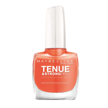 Vernis Gemey Maybelline tenue & strong pro orange à 7,60 euros