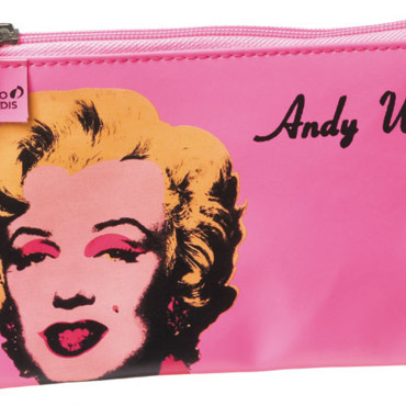 Fournitures scolaires filles : trousse Andy Warhol Marilyn Monroe